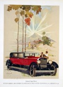 Vintage car advertising colour printing