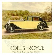 Advert for Rolls-Royce, 'The Best car in the World'