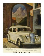 Advert for the Rolls-Royce Humber Sixteen Saloon
