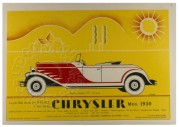 Advert for the Chrysler Roadster (Spider)