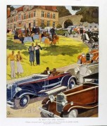 Illustration of an Automobile Rally