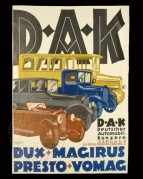 Advert for D.A.K. Motors, Leipzig