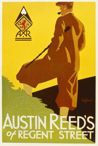 Poster For Austin Reed Of Regent Street London Retrograph