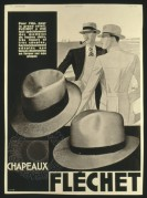 Advert for Flechet Hats