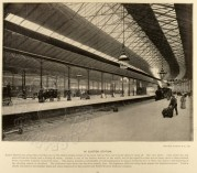 Inside Euston Station, London