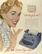 Advert for IBM Electric Typewriters
