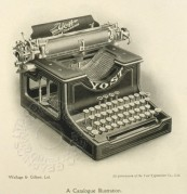 Line Illustration of a Yost Typewriter