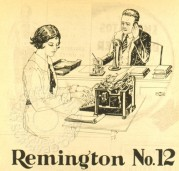 Advert for  a Remington 12 Typewriter