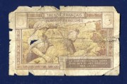 5 Cent French Bank Note (back)