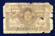 5 Cent French Bank Note (front)
