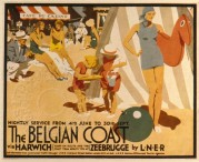 LNER poster for Harwich to Zeebrugge