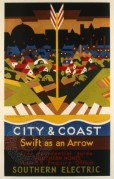 Southern Railway poster for City & Coast Services