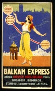 Poster for the Balkan Express, Harwich to Belgrade