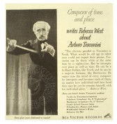 Advert for Arturo Toscanini, Conductor