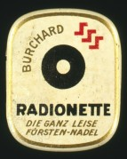 Radionette Record Needle Tin