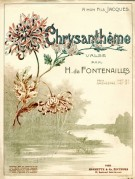 Music Sheet for Chrysanthème