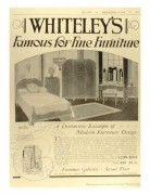 Whiteley's Furniture advert in the Brittannia
