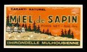 Miel de Sapin, French Honey Label