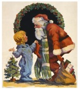 Father Christmas with a child