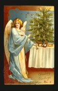 Christmas angel decorating a tree