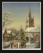 Carol singers outside a church