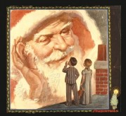 A listening Father Christmas