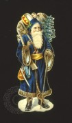 Victorian Father Christmas in blue
