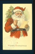 Father Christmas with his list