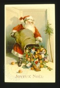 Father Christmas emptys his sack