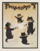 Cats pulling a Chistmas cracker