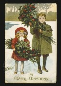 Children collecting holly