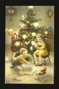 Children prepare the Christmas Tree