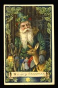 Father Christmas in green