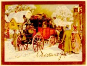 A Stagecoach in the snow
