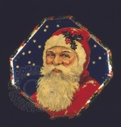 Father Christmas on a star spangled tray