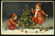Children Decorate the Tree