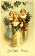 French Christmas Postcard