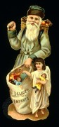 Father Christmas Cut-Out in Green