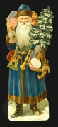 Father Christmas Cut-Out in Blue