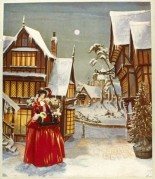 A Christmas Scene with Flower Seller