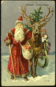 Father Christmas with his Reindeer