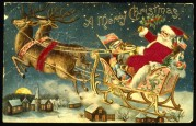 Father Christmas on his Sleigh