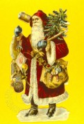Father Christmas Cut-Out on Yellow