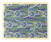 Leaf pattern in Green and Blue