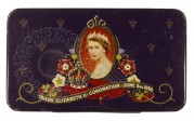Cadbury's chocolate tin lid celebrating the Coronation