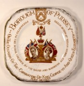 Commemorative plate for the coronation of King George VI and Queen Elizabeth