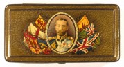 King George V 'Empire' cigarette tin with striker