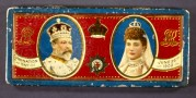 King Edward VII and Queen Alexandra on Rowntrees' chocolate tin