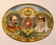 Cigar label with King Edward VII and Queen Alexandra