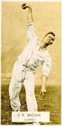 F.R. Brown – Cricketer